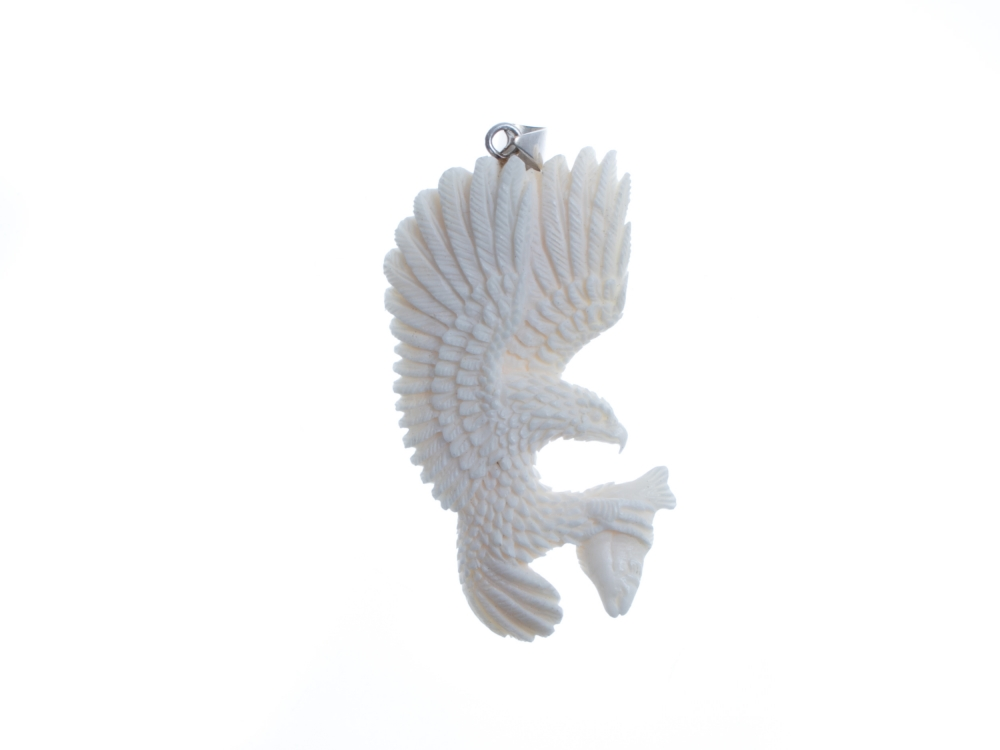Eagle Catch Fish Bone Pendant Beautiful Bone Pendant Bone Carving Bali Unique Handmade Jewelry